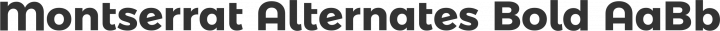 Montserrat Alternates Bold free font