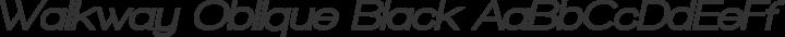 Walkway Oblique Black Regular free font