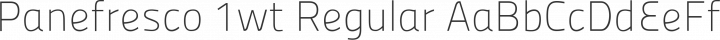 Panefresco 1wt Regular free font