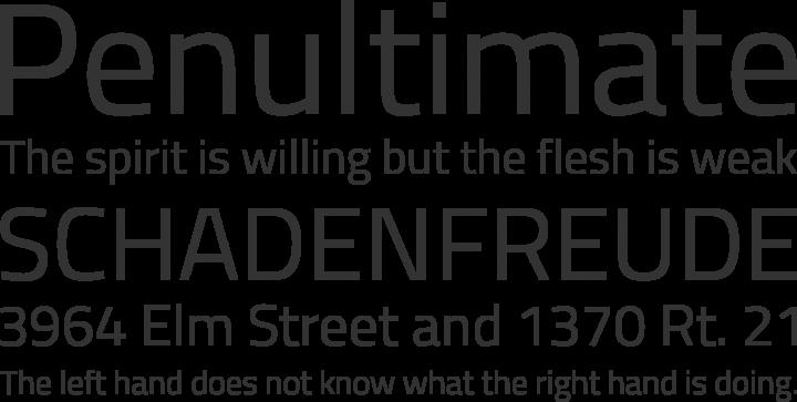 Titillium Font Phrases