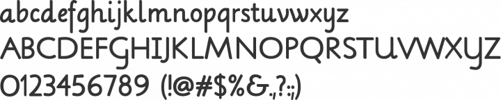 Lilly Font Specimen