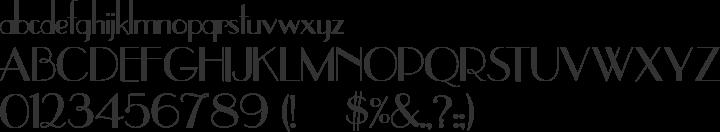UpperEastSide Font Specimen