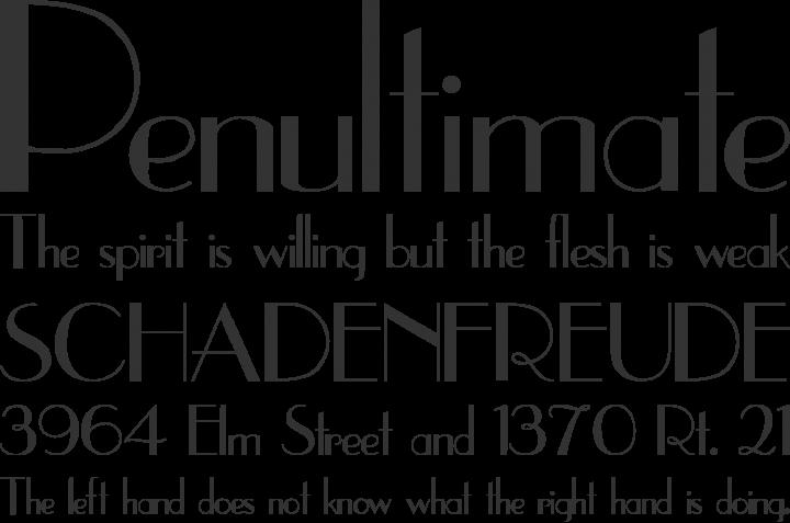 UpperEastSide Font Phrases