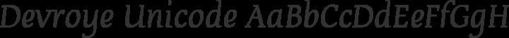 Devroye Unicode Regular free font