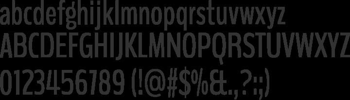 BenchNine Font Specimen