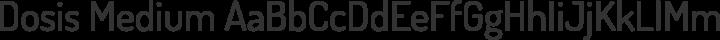 Dosis Medium free font