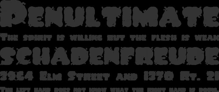 Spilt Ink Font Phrases