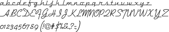 DymaxionScript Font Specimen