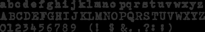 CarbonType Font Specimen