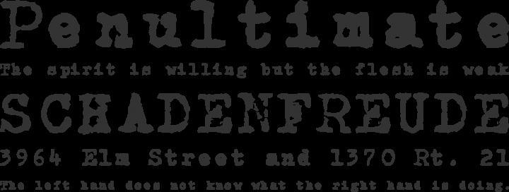 CarbonType Font Phrases
