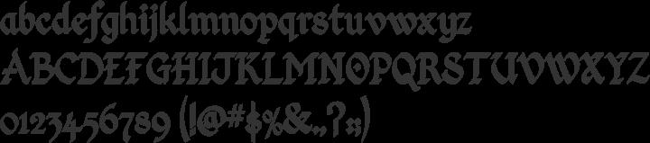 Kingthings Calligraphica Font Specimen