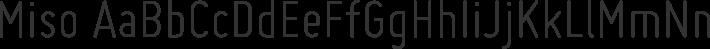 Miso font family by Mårten Nettelbladt