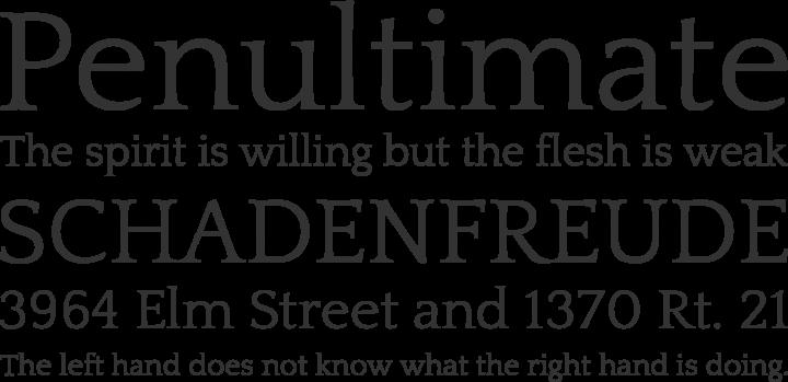 Quattrocento Roman Font Phrases