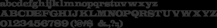 Indubitably Font Specimen