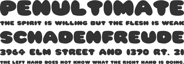 Pleasantly Plump Font Phrases