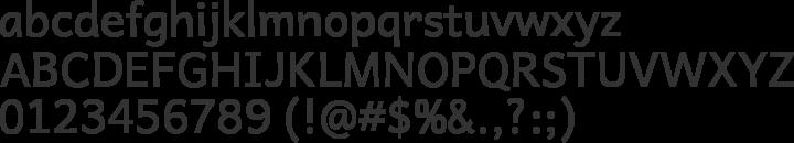 Andika Basic Font Specimen