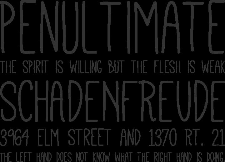 Mathlete Font Phrases