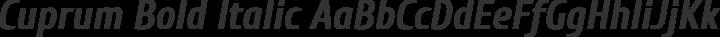 Cuprum Bold Italic free font