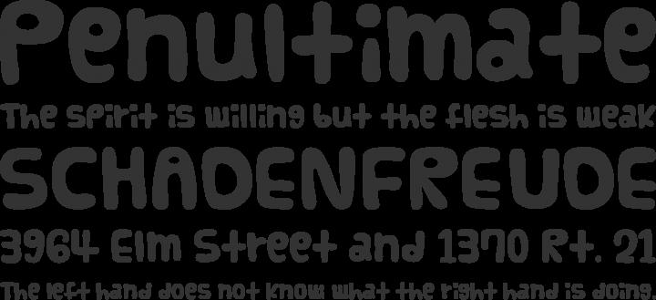 Vanilla Font Phrases
