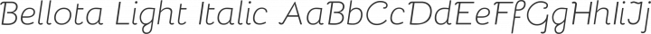 Bellota Light Italic free font