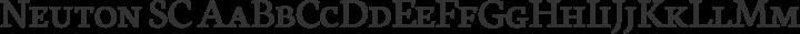 Neuton SC Regular free font