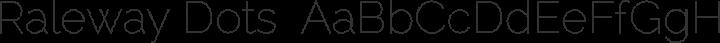 Raleway Dots  Regular free font