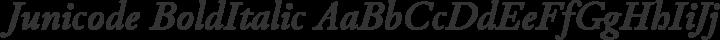 Junicode BoldItalic free font