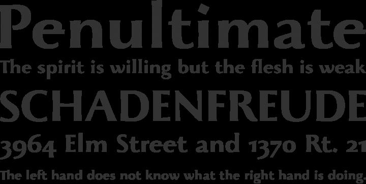 Beatrix Antiqua Font Phrases