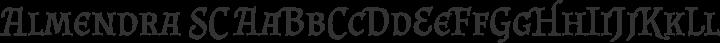 Almendra SC Regular free font