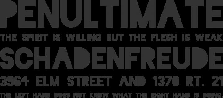 Blackout Font Phrases