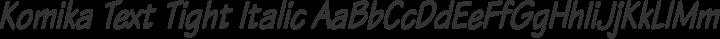 Komika Text Tight Italic free font