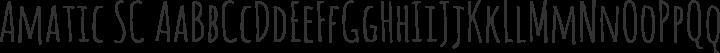 Amatic SC Regular free font