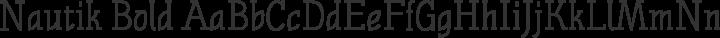 Nautik Bold free font
