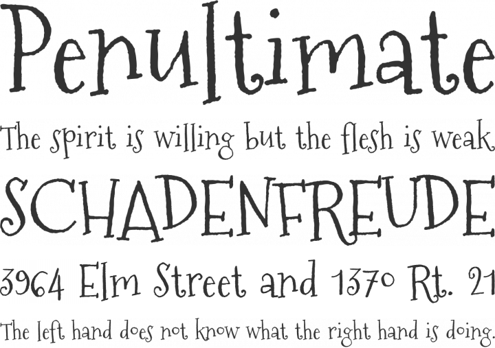 Mountains of Christmas Font Phrases