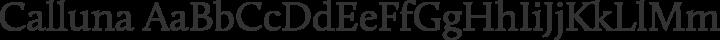 Calluna Regular free font