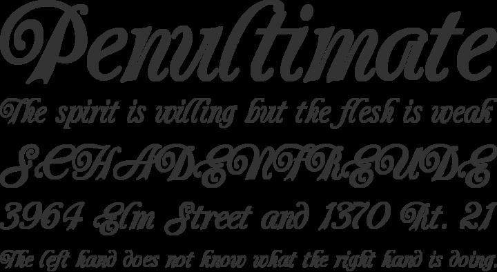 Carrington Font Phrases