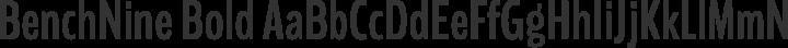 BenchNine Bold free font