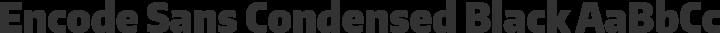 Encode Sans Condensed Black free font