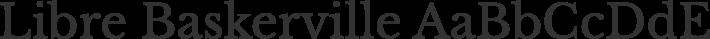Libre Baskerville font family by Impallari Type