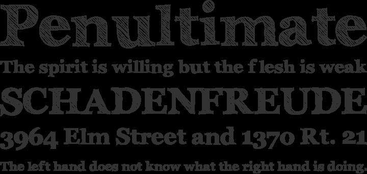 Archistico Font Phrases