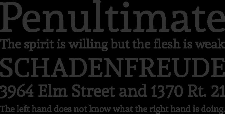 Andada Font Phrases