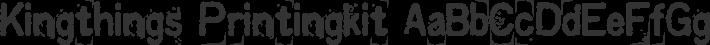 Kingthings Printingkit font family by Kingthings