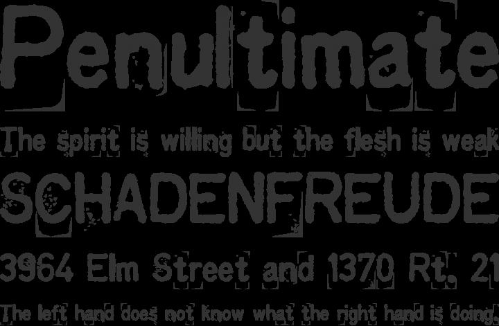 Kingthings Printingkit Font Phrases
