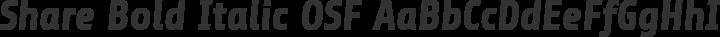 Share Bold Italic OSF free font