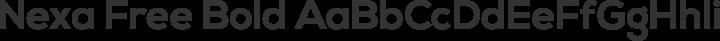 Nexa Free Bold free font