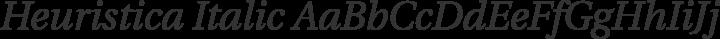 Heuristica Italic free font