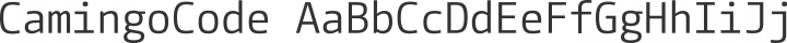 CamingoCode Regular free font