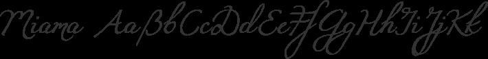 Miama font family by Linus Romer