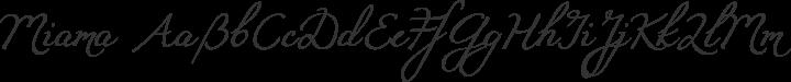 Miama Regular free font