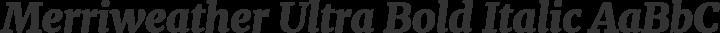 Merriweather Ultra Bold Italic free font